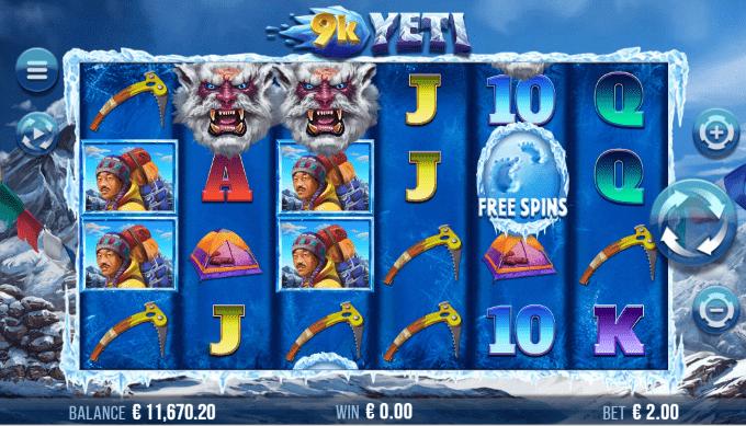 9K Yeti er produceret af 4ThePlayer og Yggdrasil Gaming gennem YGS Masters