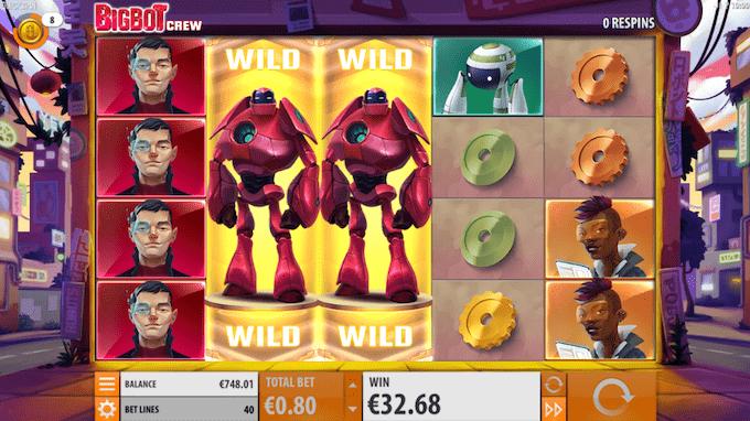 Spil Big Bot Crew hos Mr Green Casino