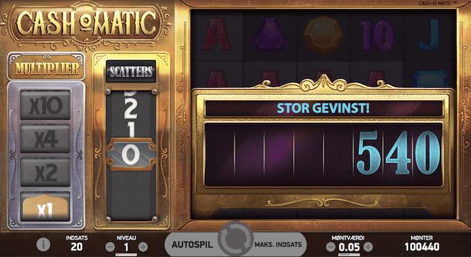 Prøv Cash-O-Matic hos Unibet Casino