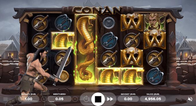 Conan spillemaskinen indeholder mange forskellige spilfunktioner