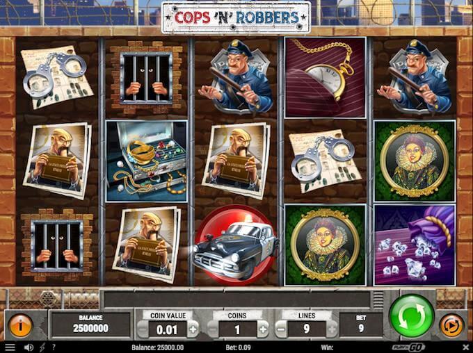 Spil Cops'n'Robbers hos Karamba