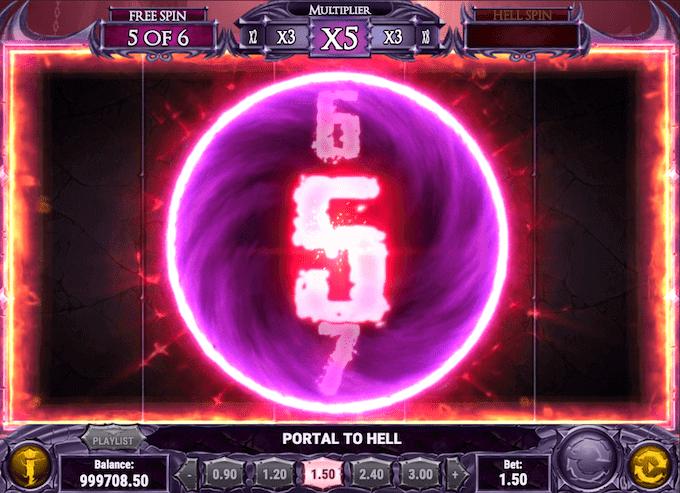 Rock dig frem til to forskellige free spins runder i Demon