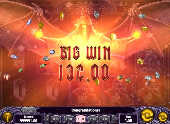 Vind op til 5.000x i Demon spillemaskinen - Prøv den hos Casumo Casino