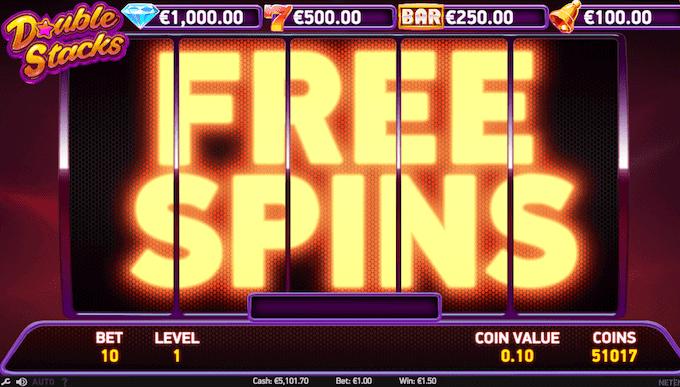Vind free spins på Double Stacks