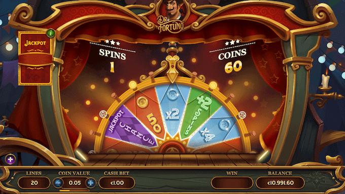 Vind jackpot på Dr Fortuno spilleautomaten