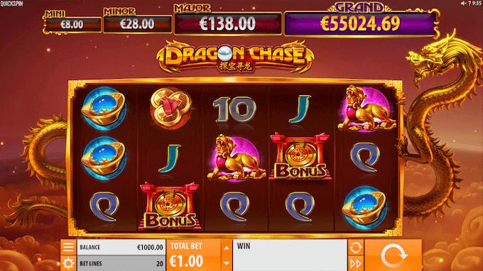 Dragon Chase indeholder fire forskellige jackpots