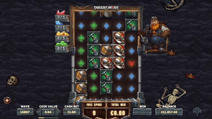 Spil Dwarfs Mine hos LeoVegas