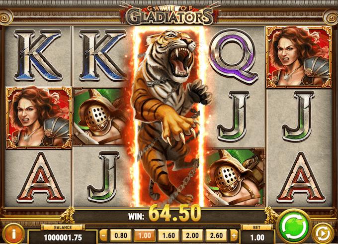 Game of Gladiators spilfunktioner