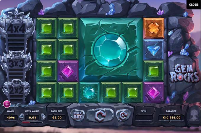 Spil Gem Rocks spillemaskine