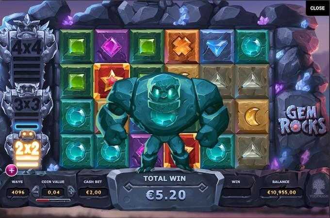 Gem Rocks spillemaskine
