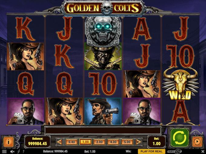 Golden Colts spilleautomaten kan spilles hos Dansk777