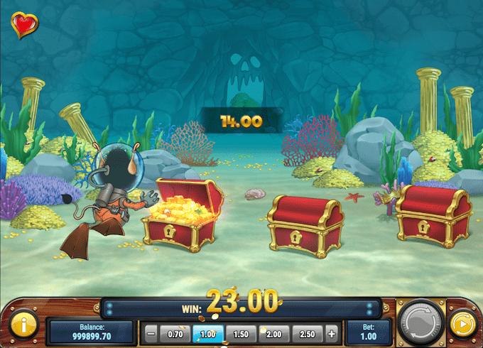 Man kan aktivere bonusrunde i Hugo's Adventure spillemaskinen
