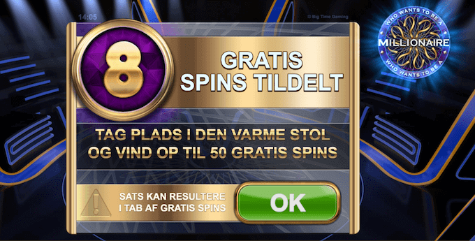 Vind gratis spins i Who Wants To Be a Millionaire