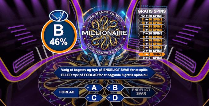 Spil Hvem vil være millionær hos Casuno Casino