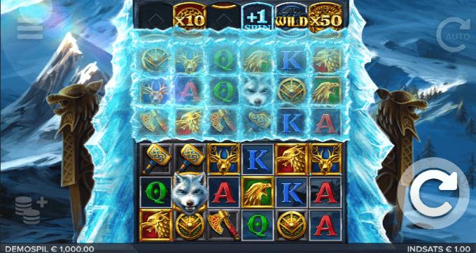 Ice Wolf er halvdelen af rækkerne dækket af is til at starte med