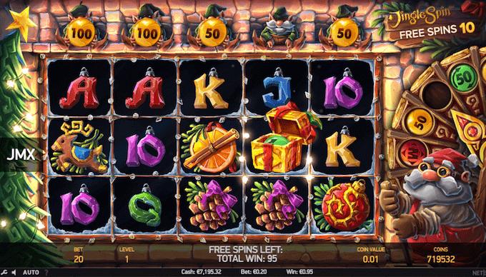 Spil Jingle Spin hos Mr Green Casino