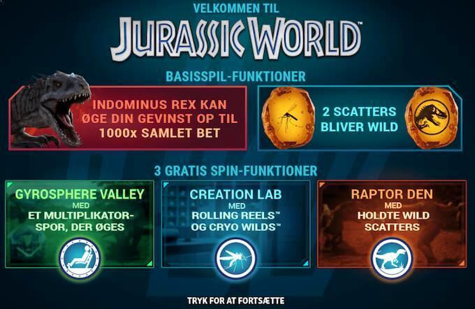 Spil Jurassic World hos LeoVegas