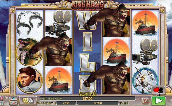 Spil King Kong hos Mr Green