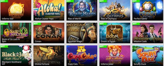 Magic Red Casino har et stort udvalg af spillemaskiner