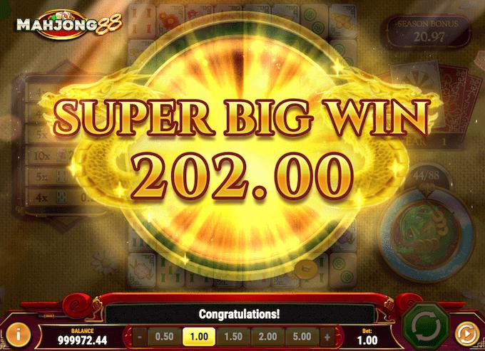 Vind op til 5000x på Mahjong 88 spillemaskinen