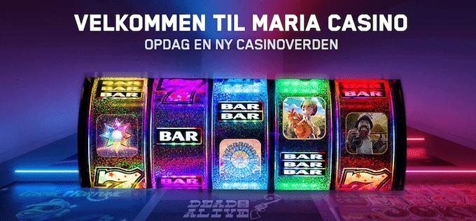 Maria Casino bonus og spiludvalg