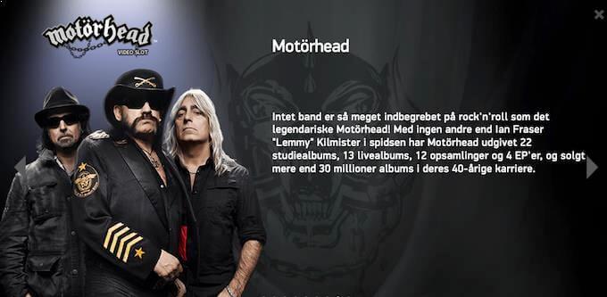 Spil Motörhead spilleautomaten hos LeoVegas