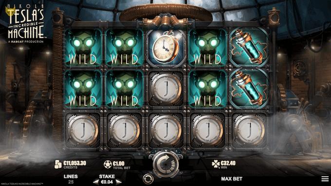 Nikola Tesla's Incredible Machine er produceret af Yggdrasil Gaming og Rabcat Gambling