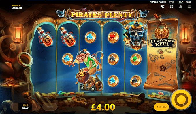 Pirates' Plenty kan spilles hos Mr Green Casino