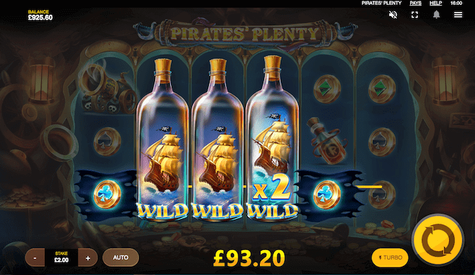 Læs sjette hjul op i Pirates' Plenty og spil med ekstra wilds