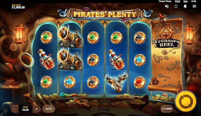 Red Tiger Gaming står blandt andet bag spillemaskinen Pirates' Plenty
