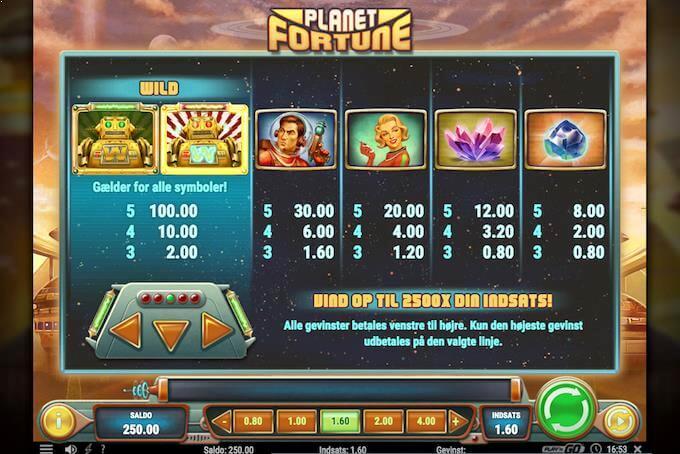 Spil Planet of Fortune ved Karamba