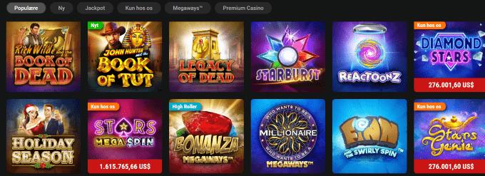 Spillemaskiner hos Pokerstars Casino
