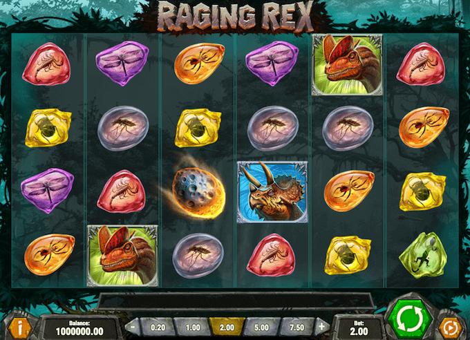 Spil Raging Rex hos Goliath Casino