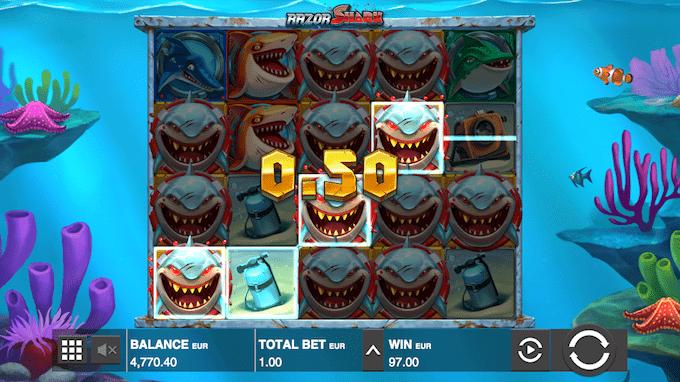 Vind op til 50.000 gange din indsats i Razor Shark