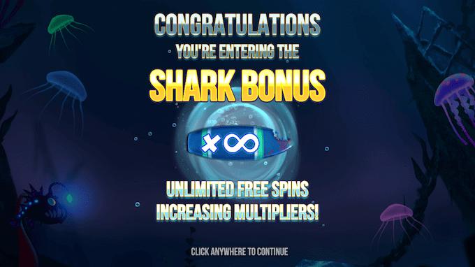 Spil med et uendeligt antal free spins i Razor Shark