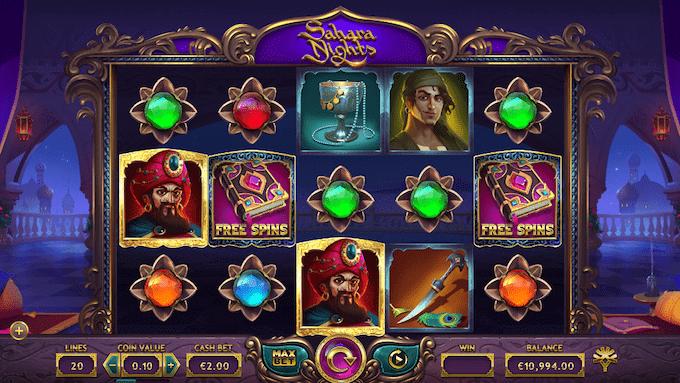 Sahara Nights spillemaskinen er produceret af Yggdrasil Gaming