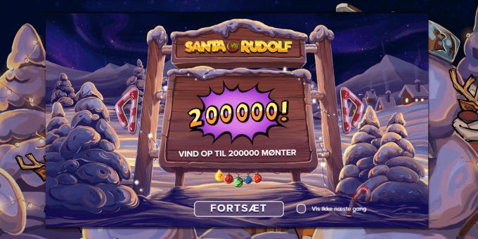 Vind op til 200.000 mønter i Santa vs Rudolf