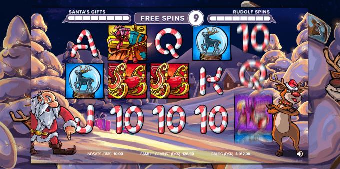 Vind op til 30 free spins i Santa vs Rudolf