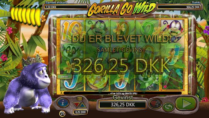 Prøv Gorilla Go Wild på Unibet casino