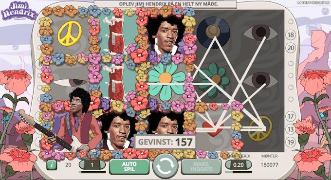 Prøv Jimi Hendrix spillemaskinen på karamba casino