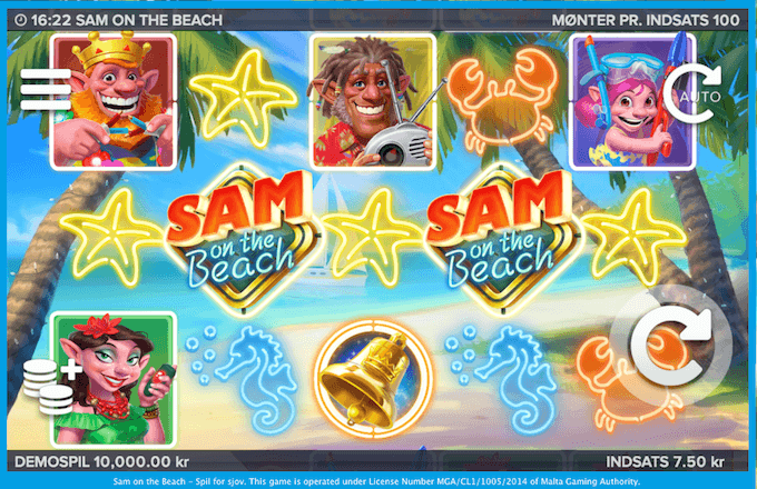 Spil Sam on the Beach hos Vera&John