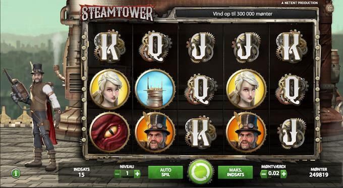 Spil Steam Tower hos LeoVegas