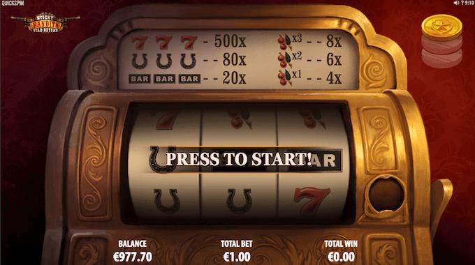 Sticky Bandits: Wild Return har sin egen spillemaskine