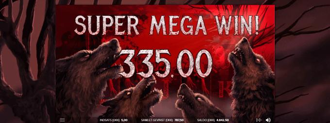 Man kan vinde op til 500x i The Wolf's Bane