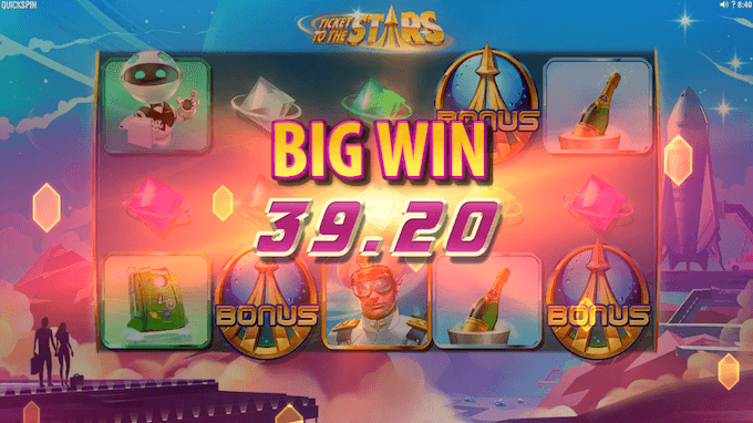 Spil Ticket to the Stars hos Maria Casino