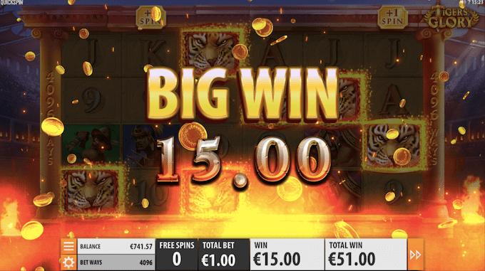 Spil Tiger's Glory hos Maria Casino
