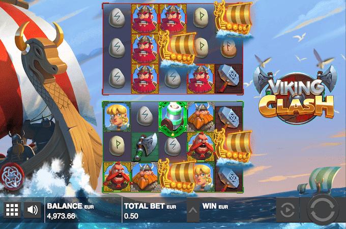 Prøv Viking Clash hos Unibet Casino