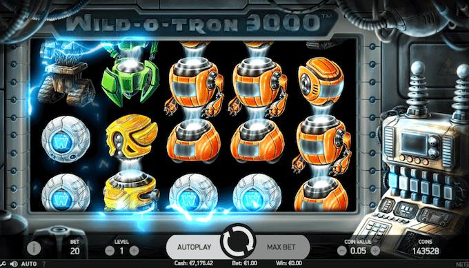 Spil Wild-O-Tron 3000 hos Goliath Casino