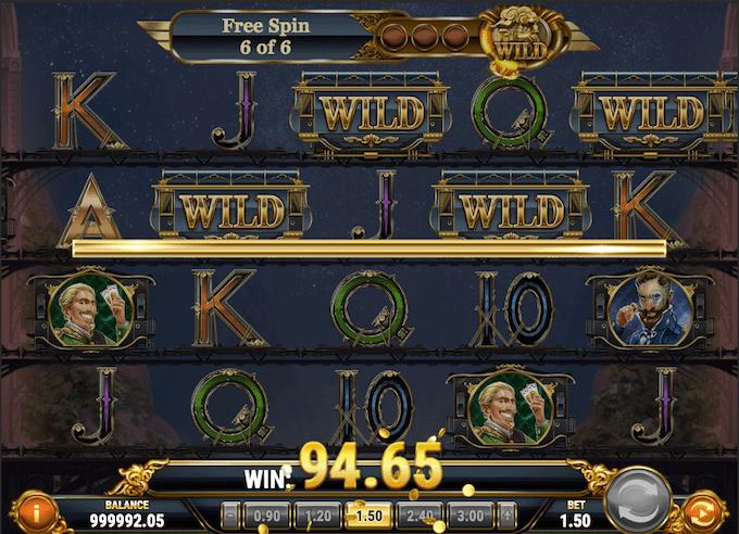 Det er muligt at spille med free spins i Wild Rails