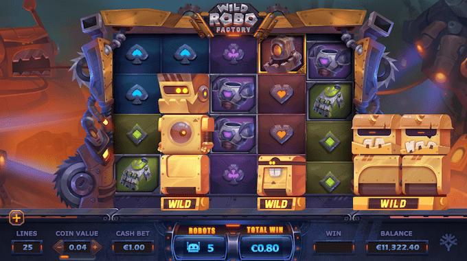 Wild Robo Factory spillemaskinen fungerer med free spins